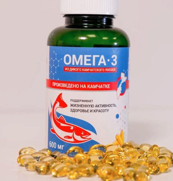 Омега-3 из дикого камчатского лосося, в банке 240 капсул по 600 мг