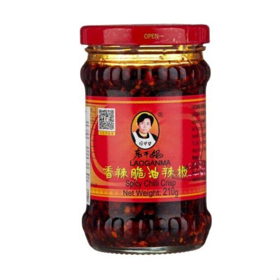 """Соус на основе растительных масел """"Острый соус с хрустящим перцем чили"""", Lao Gan Ma"""